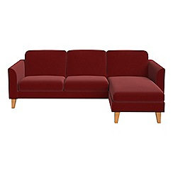 Debenhams - Velvet 'Carnaby' right-hand facing chaise corner sofa