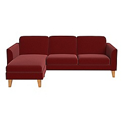 Debenhams - Velvet 'Carnaby' left-hand facing chaise corner sofa
