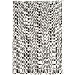 Debenhams - Black & white 'Ives' rug