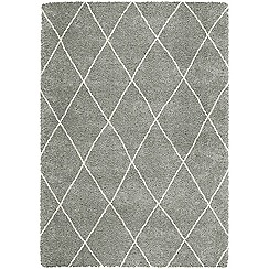 Debenhams - Grey 'Logan' rug