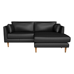 RJR.John Rocha - Luxury leather 'Ravello' right-hand facing chaise corner sofa