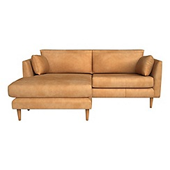 RJR.John Rocha - Natural grain leather 'Ravello' left-hand facing chaise corner sofa
