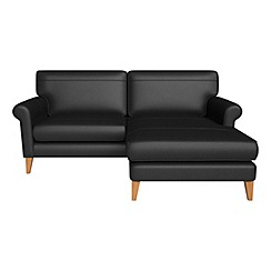 Debenhams - Luxury leather 'Arlo' right-hand facing chaise corner sofa