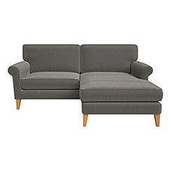 Debenhams - Natural grain leather 'Arlo' right-hand facing chaise corner sofa