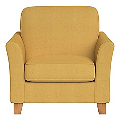 Debenhams - Tweedy weave 'Broadway' armchair