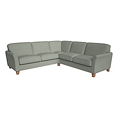 Debenhams - Large textured weave 'Broadway' corner sofa