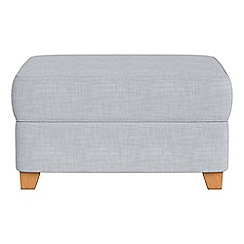 Debenhams - Brushed cotton storage footstool