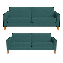 Debenhams - 4 seater and 3 seater velour 'Carnaby' sofas