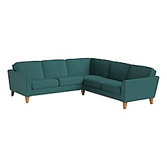 Debenhams - Velour 'Carnaby' corner sofa