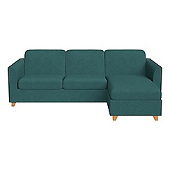 Debenhams - Velour 'Carnaby' right-hand facing chaise corner sofa bed