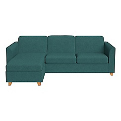 Debenhams - Velour 'Carnaby' left-hand facing chaise corner sofa bed