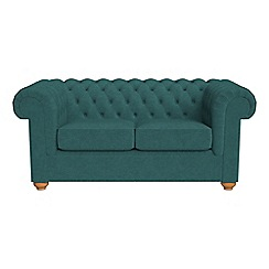 Debenhams - 2 seater velour 'Chesterfield' sofa