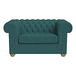 Debenhams - Velour 'Chesterfield' loveseat