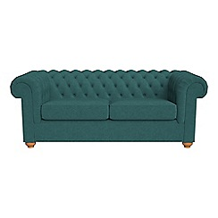 Debenhams - 3 seater velour 'Chesterfield' sofa bed