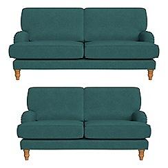 Debenhams - 3 seater and 2 seater velour 'Eliza' sofas