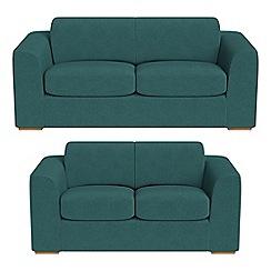 Debenhams - 3 seater and 2 seater velour 'Jackson' sofas