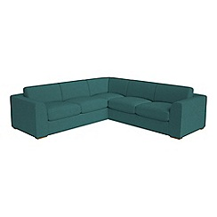 Debenhams - Large velour 'Jackson' corner sofa