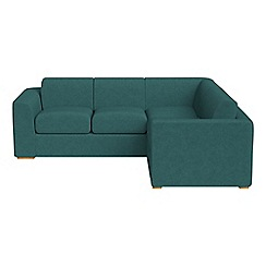 Debenhams - Medium velour 'Jackson' right-hand facing corner sofa end