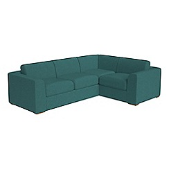 Debenhams - Large velour 'Jackson' right-hand facing corner sofa end