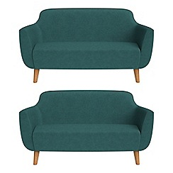 Ben de Lisi Home - Set of two 2 seater velour 'Marco' sofas