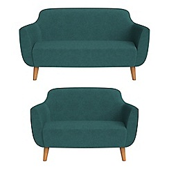 Ben de Lisi Home - 2 seater and compact velour 'Marco' sofas