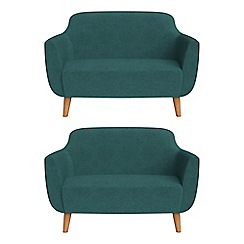 Ben de Lisi Home - Set of two compact velour 'Marco' sofas