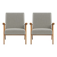 Debenhams - Set of 2 velour 'Kempton' armchairs