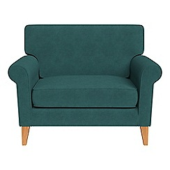 Debenhams - Velour 'Arlo' loveseat