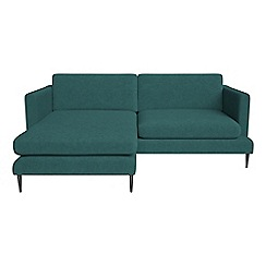 J by Jasper Conran - Velour 'Ellsworth' chaise corner sofa