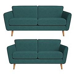 Debenhams - 3 seater and 2 seater velour 'Isabella' sofas
