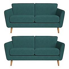 Debenhams - Set of two 2 seater velour 'Isabella' sofas