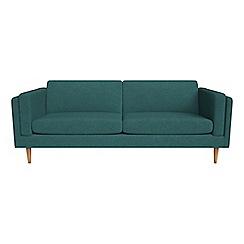 Debenhams - 4 seater velour 'Lille' sofa