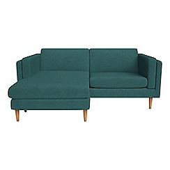 Debenhams - Velour 'Lille' chaise corner sofa