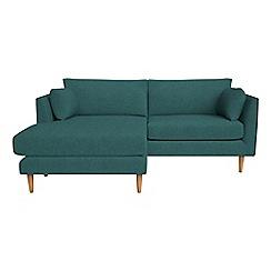 RJR.John Rocha - Velour 'Ravello' chaise corner sofa