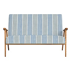 Debenhams - Compact striped brushed cotton 'Kempton' sofa