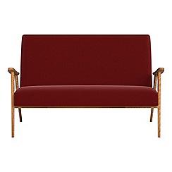 Debenhams - Compact velvet 'Kempton' sofa