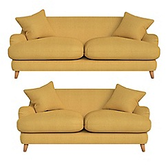 Debenhams - 3 seater and 2 seater tweedy weave 'Archie' sofas