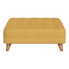 Debenhams - Tweedy weave 'Dimple' footstool