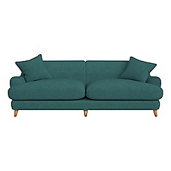 Debenhams - 4 seater velour 'Archie' sofa