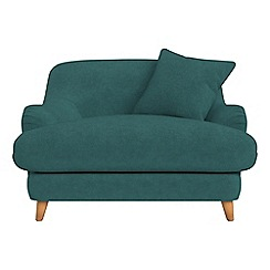 Debenhams - Velour 'Archie' loveseat