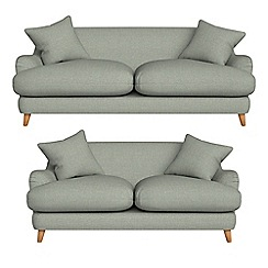 Debenhams - 3 seater and 2 seater textured weave 'Archie' sofas