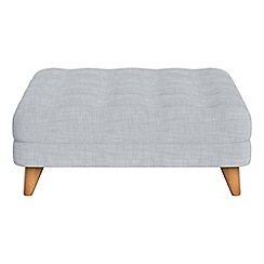 Debenhams - Brushed cotton 'Dimple' footstool