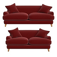 Debenhams - 3 seater and 2 seater velvet 'Archie' sofas