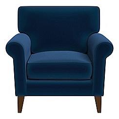 Debenhams - Velvet 'Arlo' armchair