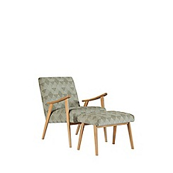 Debenhams - Mono print 'Kempton' armchair and stool