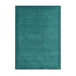 Debenhams - Teal blue wool 'York' rug