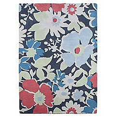 At home with Ashley Thomas - Multi-coloured wool 'Floral Garden' rug