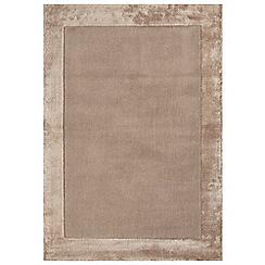 Debenhams - Sand beige woollen 'Ascot' rug