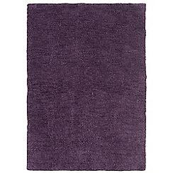 Debenhams - Grape purple 'Tula' rug