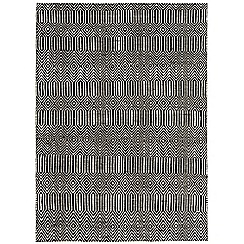 Debenhams - Black woollen 'Sloane' rug